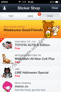Free Line Stickers In Taiwan